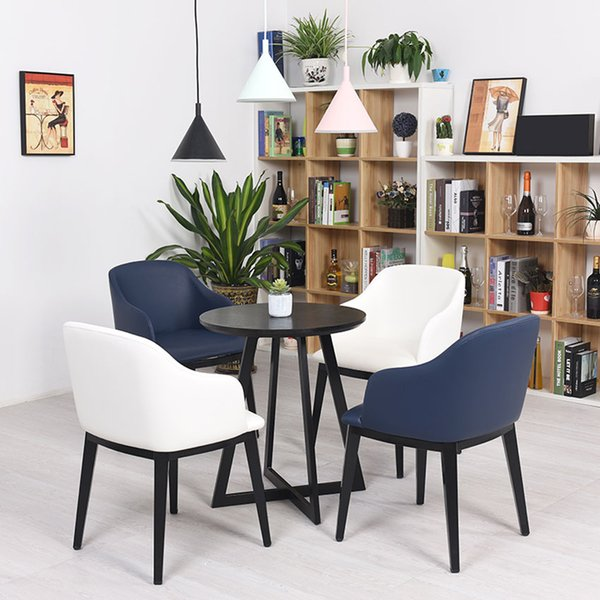 Surprising 2019 Brown White Modern Nordic Coffee Chair With Armchair Metal Leather Sofa Living Room Chair Leather Dining Room Furniture Metal Dining Chair From Machost Co Dining Chair Design Ideas Machostcouk