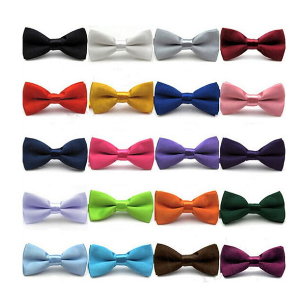 top popular High quality Fashion Men Women printing Bow Ties Neckwear children Silk Bow Ties Bowties Wedding Bow Tie 2020