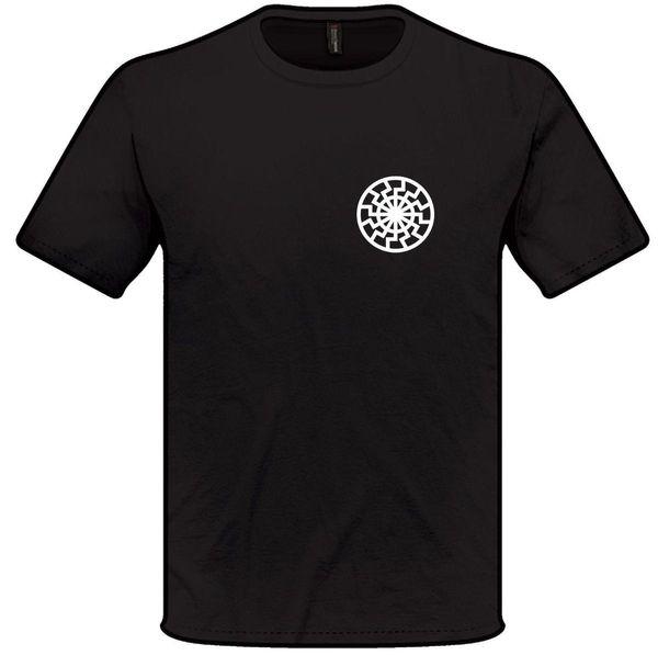 SCHWARZES SONNE-T-Shirt S-XXL Mens-Frauen-okkulten Symbol Sigil T Shirt NEUE ANKUNFT