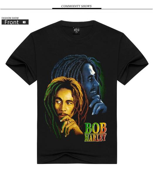 Explosion fashion brand BOB rock band shirt 3D printing high quality Korean loose cotton T-shirt black S-3XL wholesale and retail