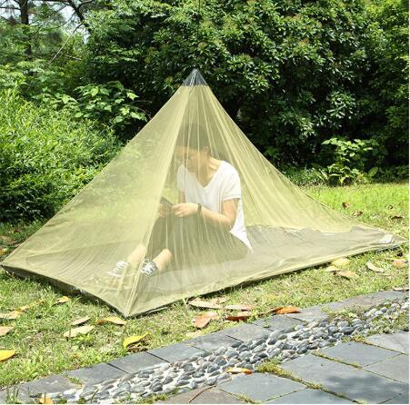 2 Colors 2.2*1.2m Single Layer Gauze Mosquito Net Tents Outdoor Camping Portable Mesh Tent Pyramid Shape Tents Garden Decor CCA10400 10pcs