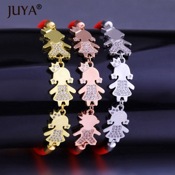 pulseras mujer moda 2018 Red Rope Women Bracelet Kawaii Jewelry Gold Silver Rose Gold Prince Princess Kids Charm bracelet femme