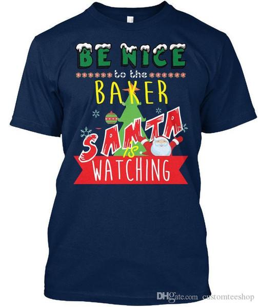 Su tendenza Divertente Baker Xmas Regalo Standard Unisex T-Shirt T-Shirt Uomo Costume maschile Manica corta Giorno del Ringraziamento Personalizzato XXXL Party T-Shirt