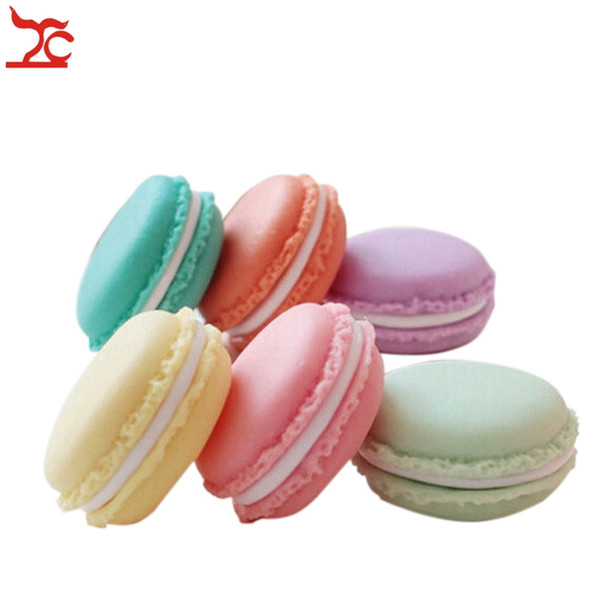Jewelry Macaron Case Round Mini Earrings Ring Necklace Storage Box Case Carrying Pills Home Accessory Organize Box Case 4*4*2cm