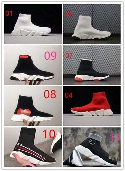 2020 news Calzino Scarpe BAL * NCI * GA Casual Scarpa Speed Trainer Sneakers alta qualità Speed Trainer Calzino Race Runner nero Scarpe Scarpa di lusso