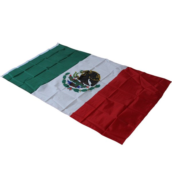 3x5 'Feet Polyester Drapeau Mexique Nation - 90x150cm Pays Mexicain Intérieure En plein air Bannière Activité Défilé Festival Décoration de la maison