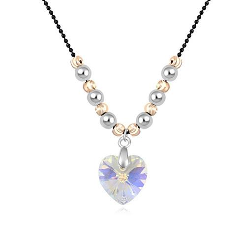 Crystal heart pendant necklace jewelry with Swarovski Elements for women girls Birthday Christams fashion jewelry gift