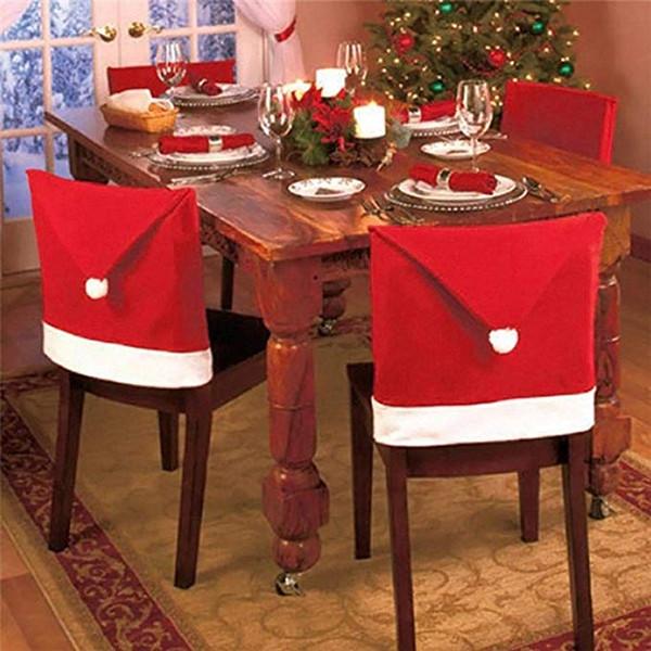 Noël flocon de Noël Nappe Chair Set de table antipoussière couverture X-mas Thanksgiving Dinner Party Home 3D Décor Tablecloth