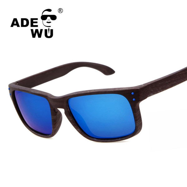 ADE WU Erkekler Için Ahşap Spor Polarize Güneş Gözlüğü Sürüş O Tasarımcı Güneş gözlükleri Adam Ayna Erkek Güneş Gözlüğü Oculos De Sol