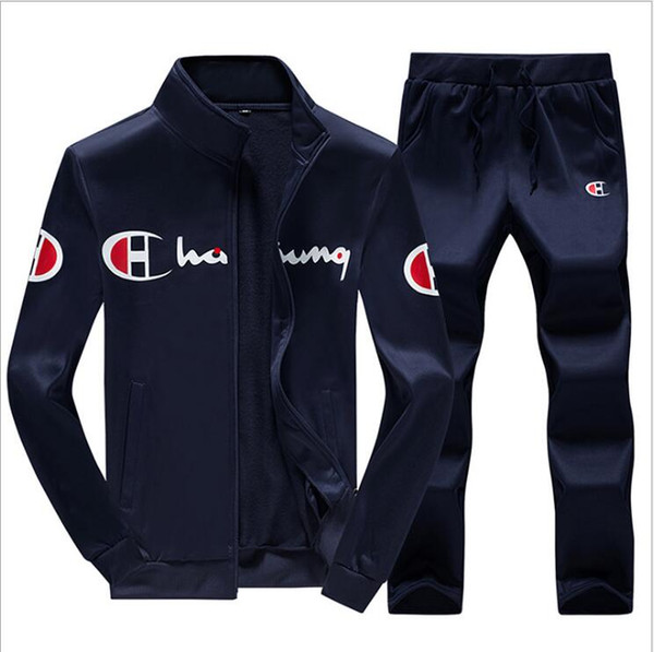 Marca Casual para hombre Chándal Trajes de suéter de Hip Hop Conjuntos de chándal con capucha Hombre Streetwear Jogger Top + Pantalones de chándal Set Plus Size S-3XL