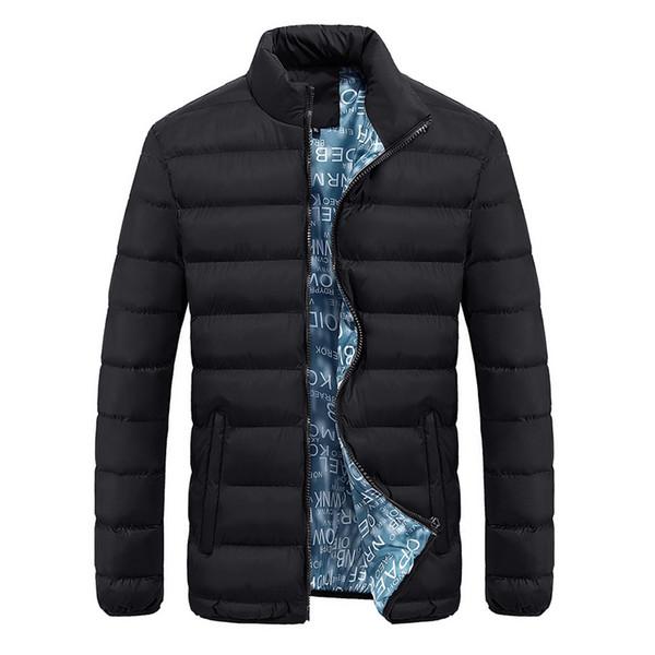 2018 Bomber Jacket Men Autumn Winter Slim Fit Casual Jackets Homme Solid Cool Design Mandarin Collar Brand Clothing Coats M-4XL