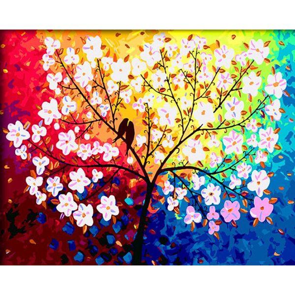 Love Tree 5D DIY Mosaic Needlework Diamond Painting Embroidery Cross Stitch Craft Kit Wall Home Hanging Decor