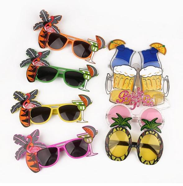 Пляжная вечеринка новинка фрукты ананас очки фламинго партия украшения Гавайские смешные очки Очки девичник поставки GA367