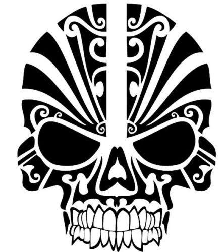 Skull Tribal Tattoo Head Car Sticker Vinyl Car Packaging Horror Personality Decal