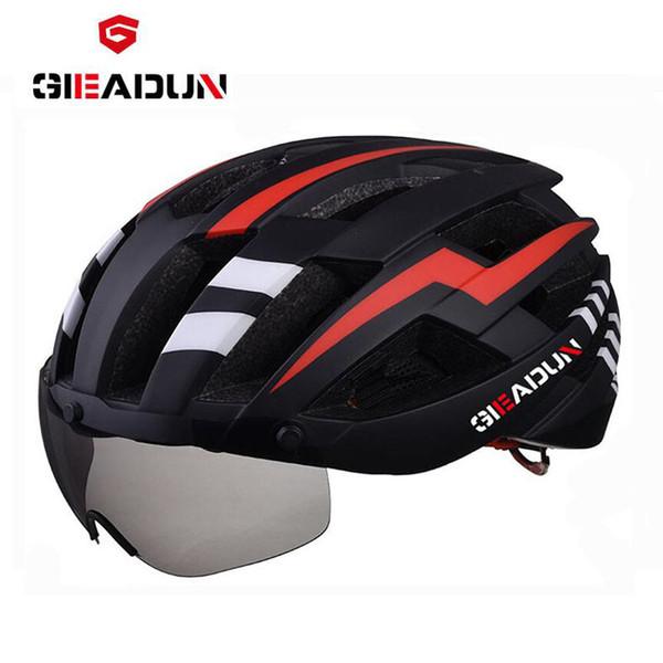 Bicycle EPS helmet Net Bike helmet cycling road MTB bike integrally-molded lenses, wind-proof hull cycling