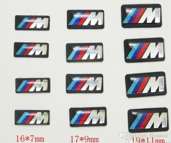 100pcs Tec Sport Wheel Badge 3D Emblem Sticker Decals Logo For bmw M Series M1 M3 M5 M6 X1 X3 X5 X6 E34 E36 E6 car styling stickers