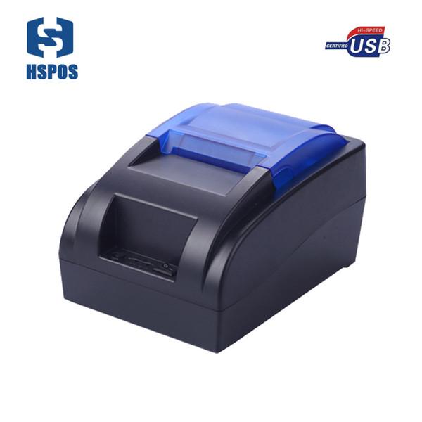 Imprimante thermique à bas prix Imprimante USB à impression haute de 58mm Support de conception à la mode Langue internationale et commande ESC / POS HS-58HU