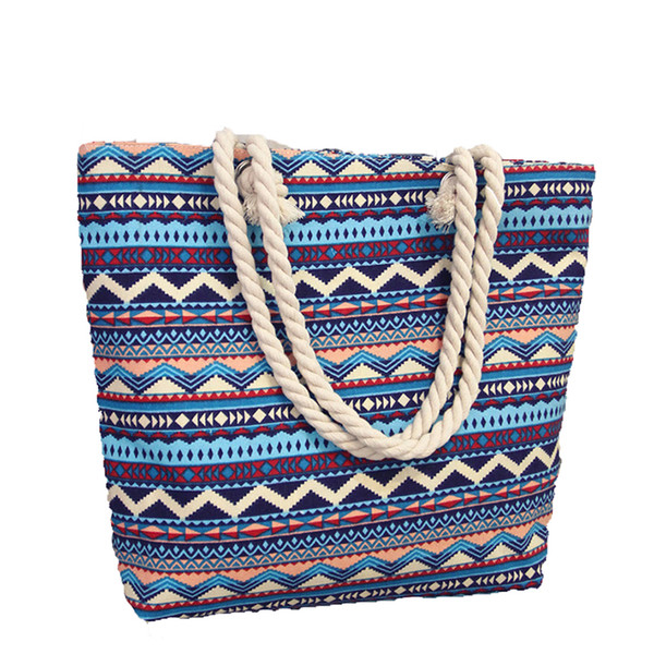 Buyuwant Canvas Shopping Bag BF03-SP-klhbyh Single shoulder women's stylish colourful petal skull printing zipper canvas bag