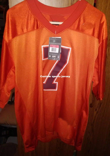Cheap custom Michael Vick Virginia Tech NCAA football jersey Orange College NEW Customized Any name number Stitched Jersey XS-5XL