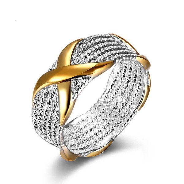 Nuevo estilo popular de moda 925 anillo de dedo de color plata para hombres Anillos de boda de compromiso tamaño 6 7 8 9 disponible # S