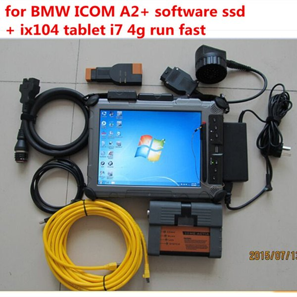 Top for bmw icom a2 with laptop + ssd V2018.9 + Laptop ix104 i7 tablet ready to work 3in1 programming & diagnostic tool