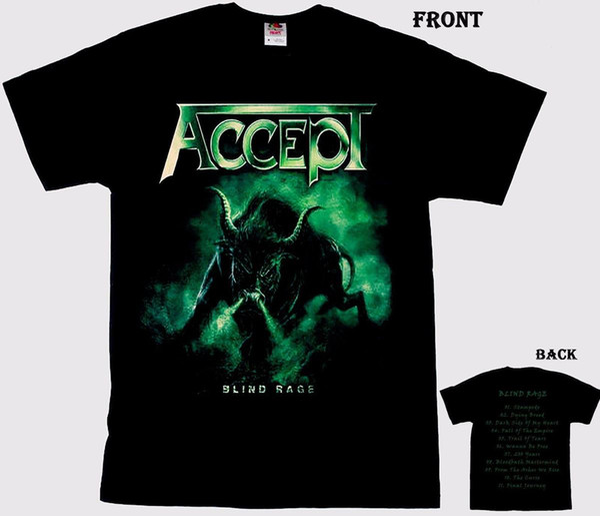 ACCEPT-Blind Rage-Band heavy metal tedesco, T_shirt- taglie: dalla S alla 6XL