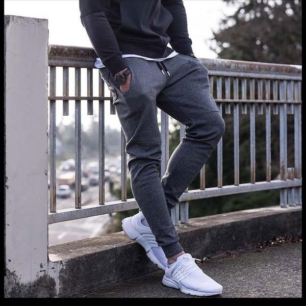 top popular sweatpants Newest Mens Sweatpants Autumn Winter Man Gyms Fitness Bodybuilding Joggers workout trousers Male Casual cotton Pencil Pants 2020