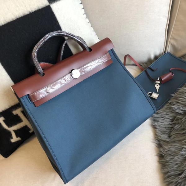 Amous diseñador herbag mujeres de lujo de cuero genuino bolso bolso de mano 7A mejor calidad bolso de lona de moda 31 cm compras libres