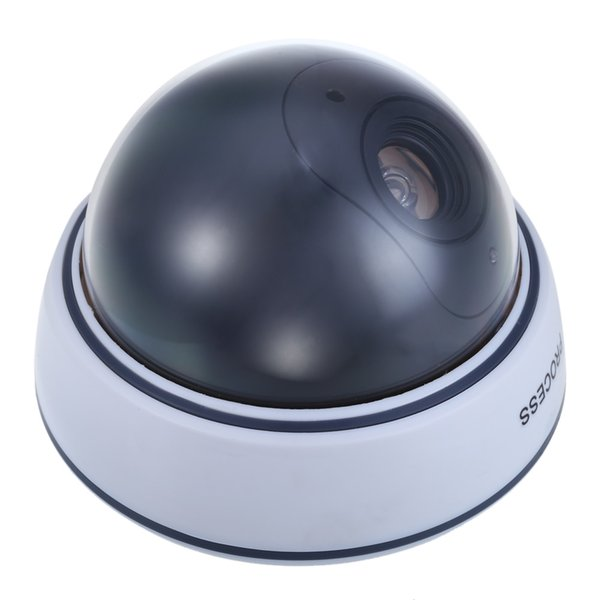 Realistic Battery Operated Dummy Surveillance Security Dome Camera with Flashing LED Red Light fake ip camera