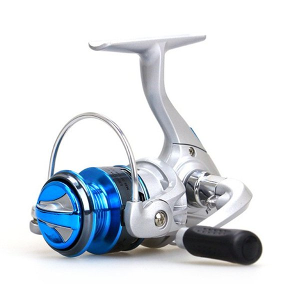 18New 10BB Mini Ice Fishing Reel Gear Ratio Up to 5.2:1 Spinning Fishing Reel with Exchangeable Handle Automatic folding for Casting Line