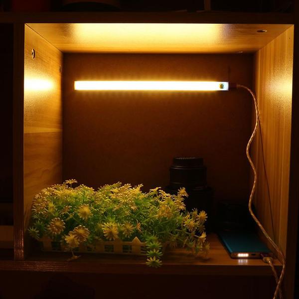 Touch Sensor Cabinet Stairs Light Lamp Cabinet Wardrobe Table Light Cupboard Showcase LED Lights Closet Lights USB 21 LED