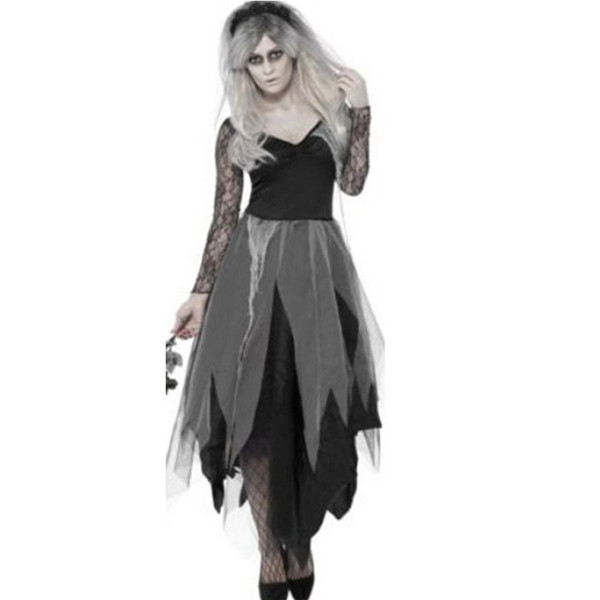 Halloween ghost bride dress Europe and the United States women make-up dance vampire role-playing female zombies dress uniform