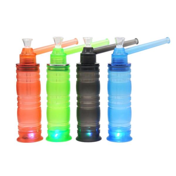 HoneyPuff Wholesale Portable Hookah All in One Screw on Bottle Converter 160MM Tobacco Herbal Holders Acrylic Bongs Smoke Water Pipes