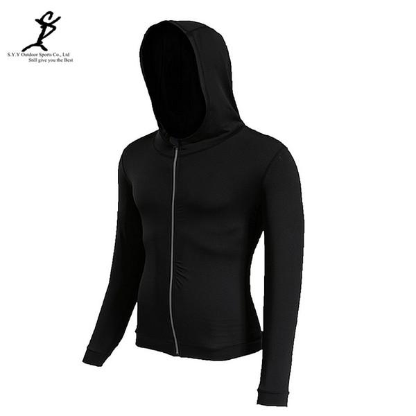 Outdoor Spring Sport Jacket Men Reflective Zipper Running Hoodie Black Gym Sweatshirt Fitness Sportswear Crossfit Hooded Jacket