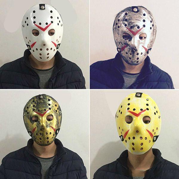 Maskerade Masken für Erwachsene Jason Voorhees Schädel Maske Paintball 13. Horror Film Maske Scary Halloween Kostüm Cosplay Festival Party Maske