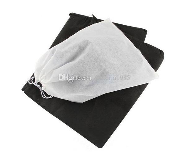 Non-woven Shoe Drawstring Travel Storage Shoe Dust-proof Tote Dust Bag Case Black White Pouch Tote Bag Dust-proof Shoe