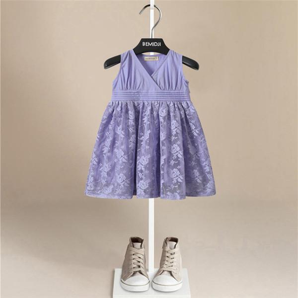 Hot Sales Fashion Dress Verão Flor Bordado Infantil Do Bebê Meninas Vestidos Sólidos Criança Estilo Especial Boêmio Princesa Vestido Puro Algodão