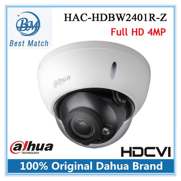 Mais novo 4mp Dahua HDCVI Camera 2.7-12mm Lente Motorizada Inteligente IR distância 30 m Ao Ar Livre IP67 CCTV Câmera HAC-HDBW2401R-Z