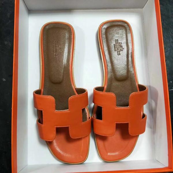 Moda yeni terlik bayanlar, suni deri taban, kadın açık düz ayakkabı, plaj ayakkabıları, patlamaya dayanıklı deri kumaş 1304165