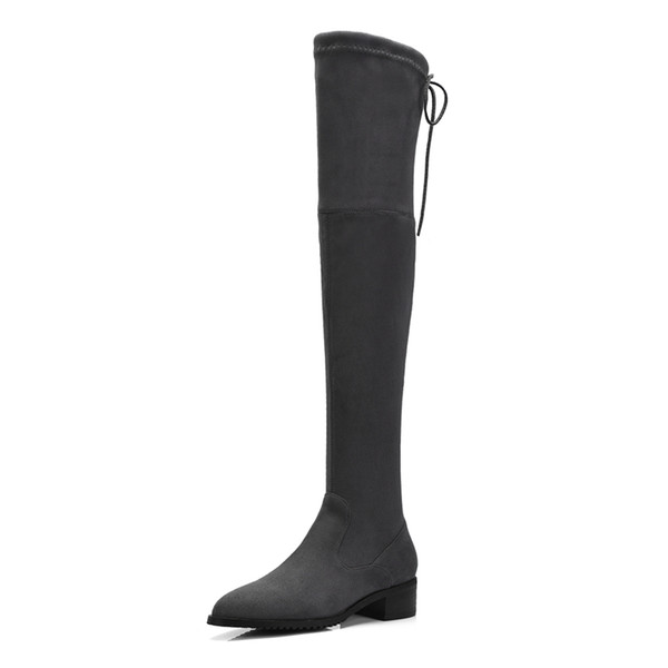 Fashion Womens Ladies Lace up Thigh-High Boots Shoes Sexy Over The Knee Boots B809 Square heel Size Customized