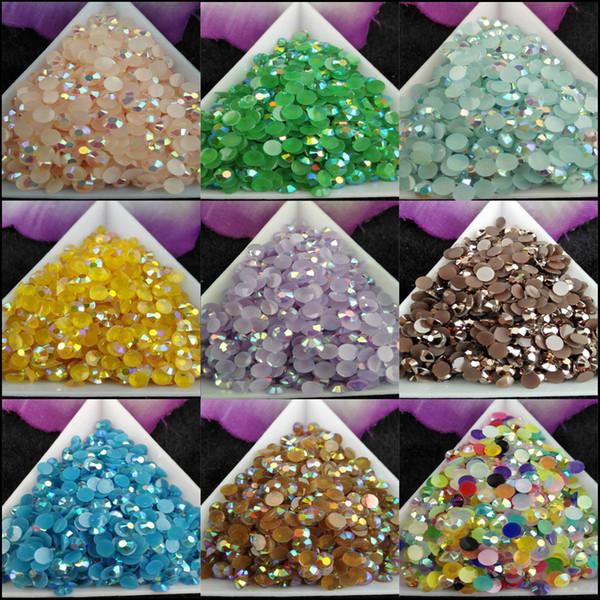 best selling 5000pcs bag SS16 4mm 9Color Jelly AB Resin Crystal Rhinestones FlatBack Super Glitter Nail Art Strass Wedding Decoration Beads Non HotFix 3