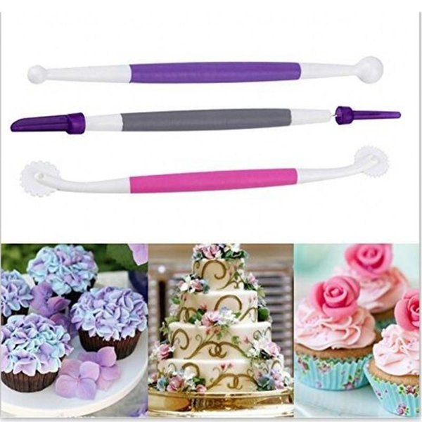 3PCS Gift SugarCraft Modelling Tool Clay Molding Sculpture Fondant Gift Decorating Kit Mold Kitchen Dessert Decoration