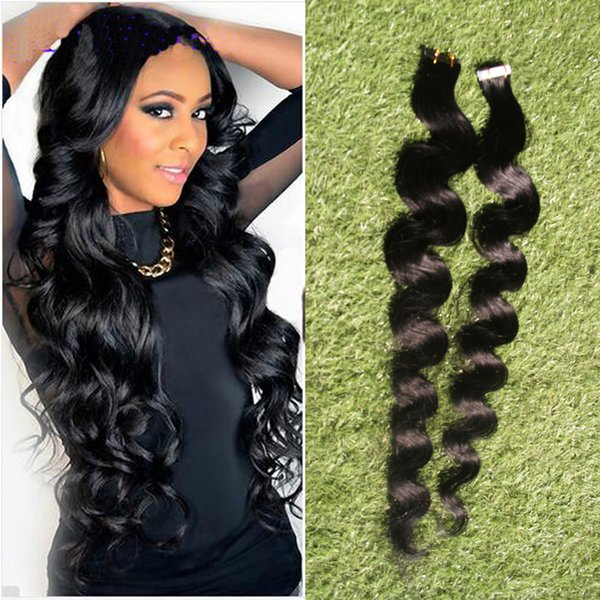 tape in human hair extensions 40pcs/set Remy Tape Hair Extensions Double Sided body wave Skin Weft Hair Extensions