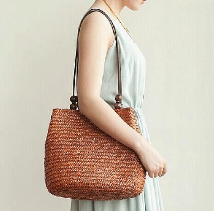 4 Color Women's Bag Beach Woven Bags For Summer Travel Womens Designer Shoulder Bags Ladies Knitting Women straw bag Handbags