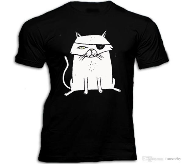 CAMISA gato mau engraçado T