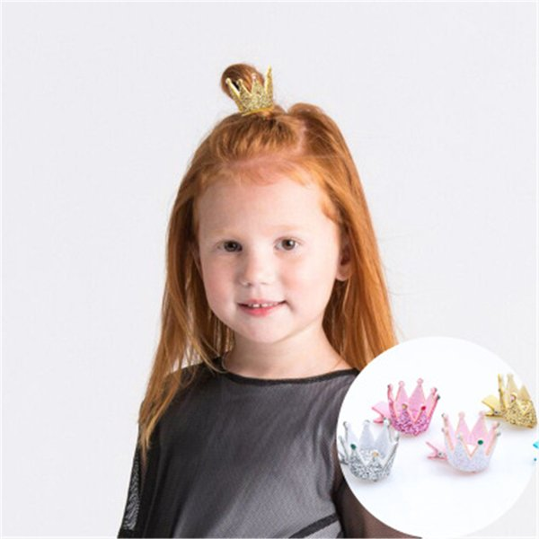 Baby Barrettes Hairclips Glittering 3d Crown Princess Hairclips Kids Clips For Girls Hair Accessories Hairpins Kfj209 Hair Accessories Online Baby