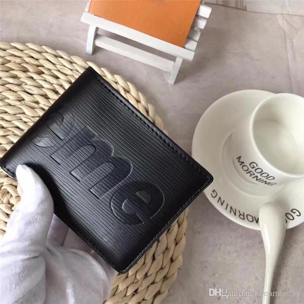 Hottest 2018 Red Black EPI BiFold Slender Wallet Purse Burse Notecase Bag Men Women Best Quality With Original Box Hot Sale Newest