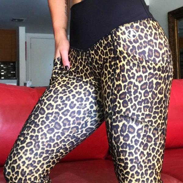 Oyoo Leichte bequeme Yogahosen - Hohe Taillierte Yoga-Leggings mit Böhmen-Druck - Extra weiche Fitness-Sport-Leggings - Dry Fit