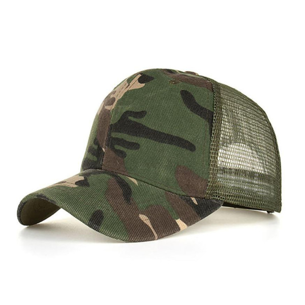 Camouflage Summer Cap Mesh Hats For Men Women Casual Hats Hip Hop Baseball Caps for men baseball cap women gorras mujer