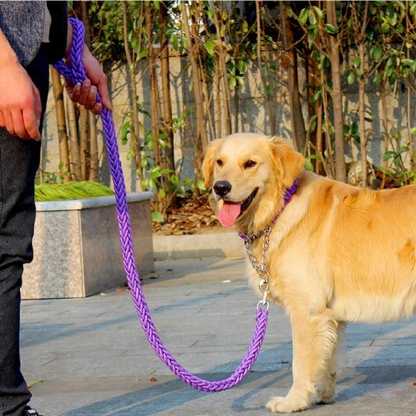 2016 High Quality Stereotyped Rope Large Dog Leashes And Collars Pet Traction Rope Collar Set For Big Dogs Harnais Collier Pour
